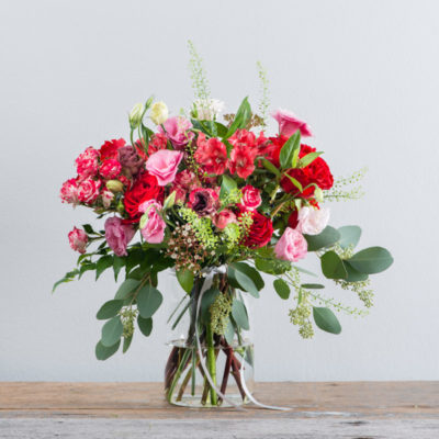 Flower Addict - Say It With Red In Vase